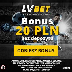 LVbet - bonus 20zł