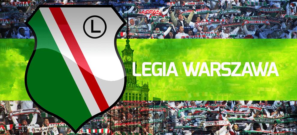 Legia Warszawa herb i kibice.